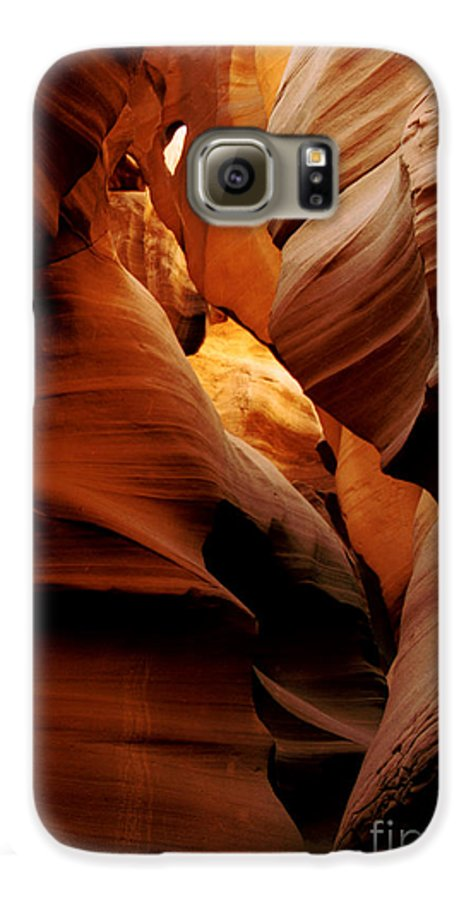 Antelope Canyon Galaxy S6 Case featuring the photograph Convolusions by Kathy McClure