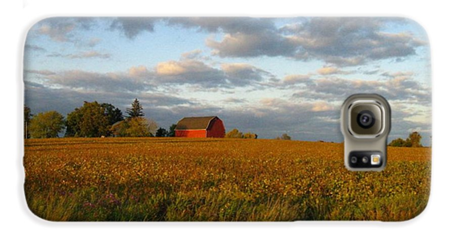 Landscape Galaxy S6 Case featuring the photograph Country Backroad by Rhonda Barrett