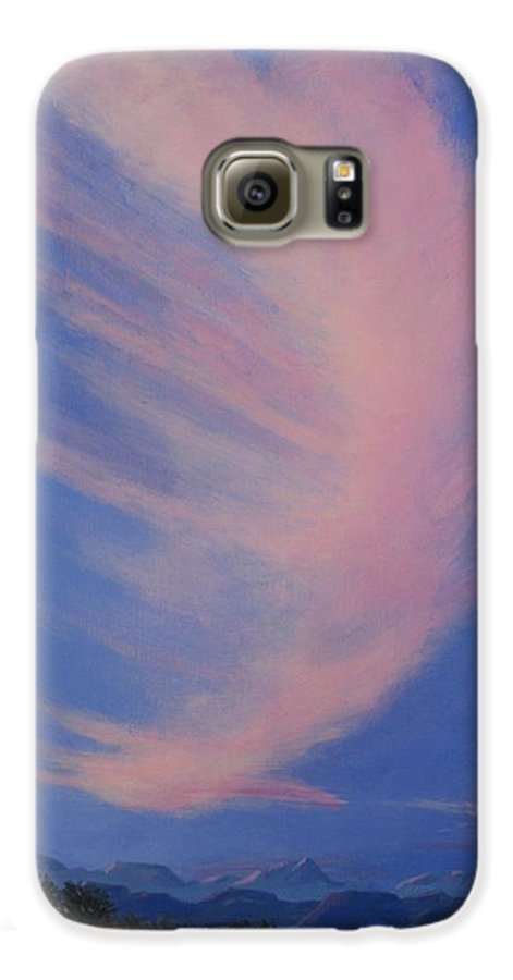 Western Galaxy S6 Case featuring the painting Cowboy Wakeup Call by Janis Mock-Jones