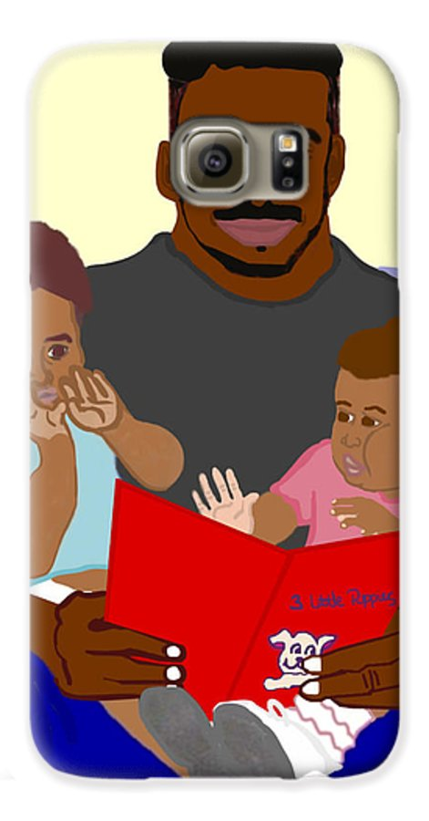 Dad Galaxy S6 Case featuring the painting Daddy's Bundles by Pharris Art
