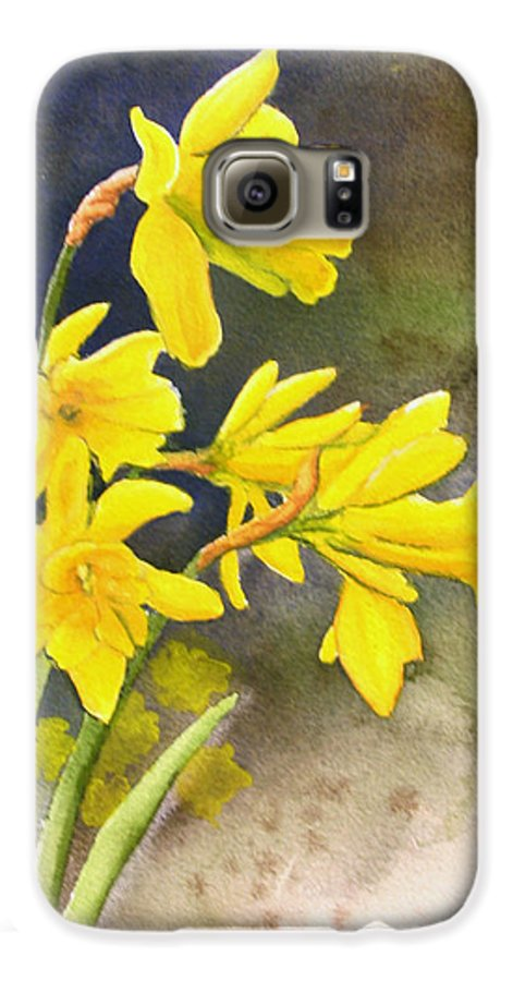 Rick Huotari Galaxy S6 Case featuring the painting Daffodils by Rick Huotari