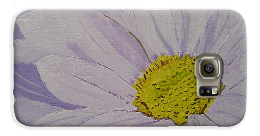 Daisy Galaxy S6 Case featuring the painting Daisy by Anthony Dunphy