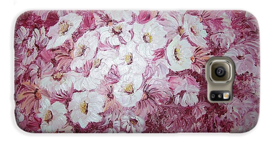 Galaxy S6 Case featuring the painting Daisy Blush by Karin Dawn Kelshall- Best