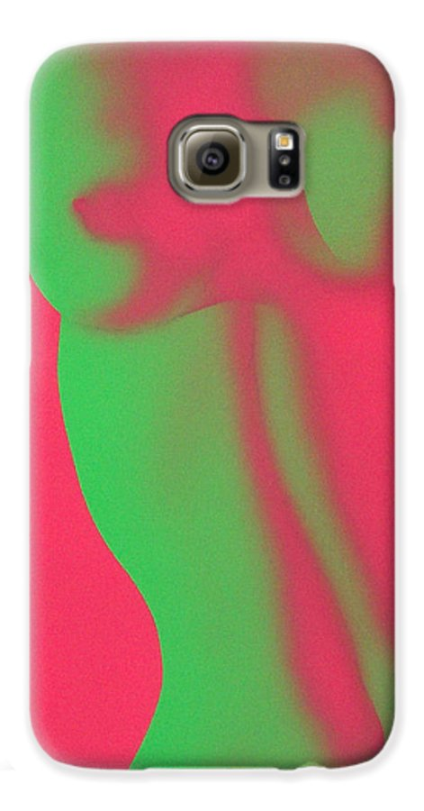 Nude Galaxy S6 Case featuring the painting Dayglo Nude by Philip Fleischer