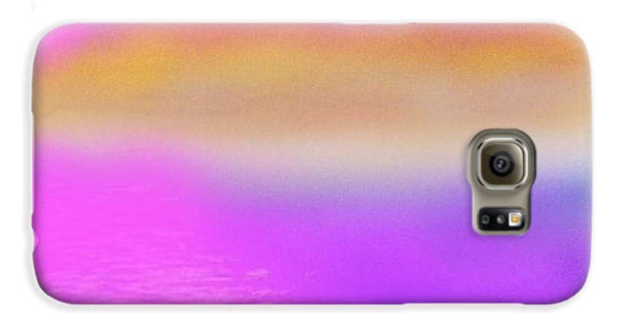 Morning.sky.sea.fog.coilors.mounts.water.reflection.sun Galaxy S6 Case featuring the digital art Dead Sea .morning by Dr Loifer Vladimir