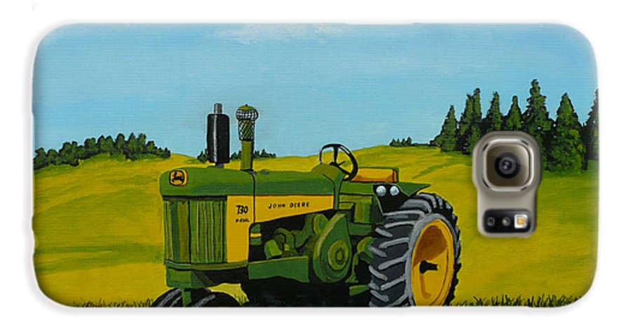 John Deere Galaxy S6 Case featuring the painting Dear John by Anthony Dunphy
