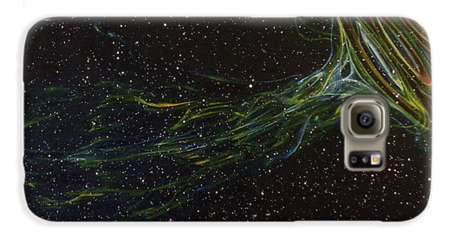 Abstract Galaxy S6 Case featuring the painting Death Throes by Sean Connolly