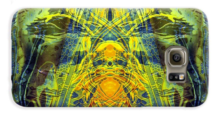 Surrealism Galaxy S6 Case featuring the digital art Decalcomaniac Intersection 1 by Otto Rapp