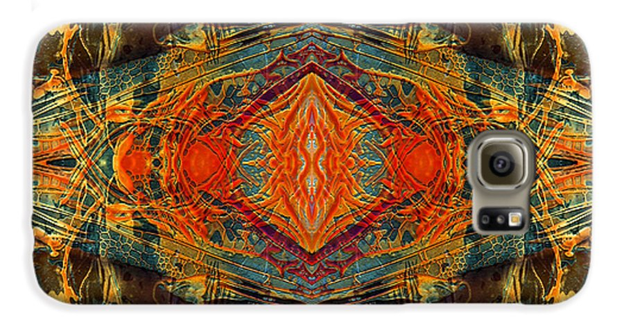 Surrealism Galaxy S6 Case featuring the digital art Decalcomaniac Intersection 2 by Otto Rapp
