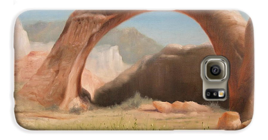 Realism Galaxy S6 Case featuring the painting Desert Arch by Donelli DiMaria