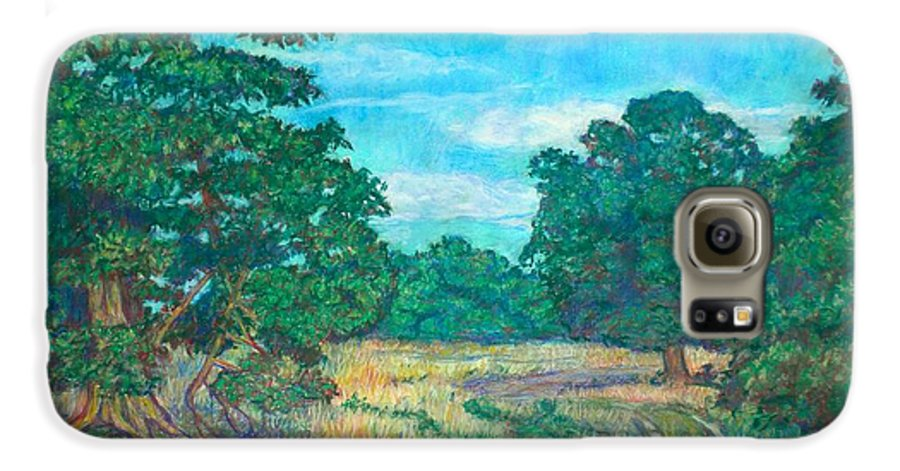 Landscape Galaxy S6 Case featuring the painting Dirt Road Near Rock Castle Gorge by Kendall Kessler