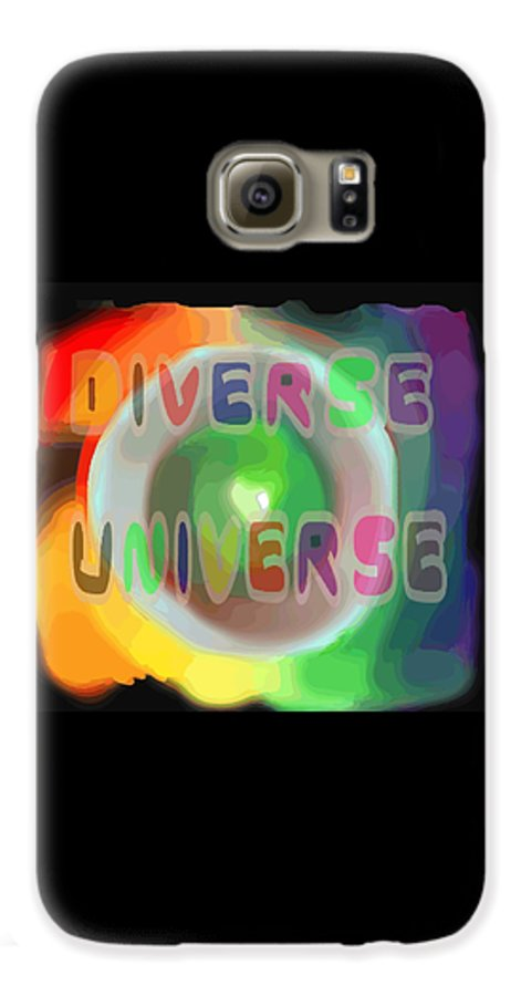 Diverse Galaxy S6 Case featuring the painting Diverse Universe by Pharris Art
