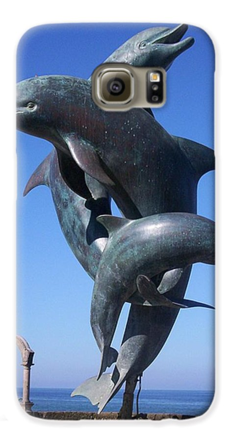 Jandrel Galaxy S6 Case featuring the photograph Dolphin Dance by J Andrel
