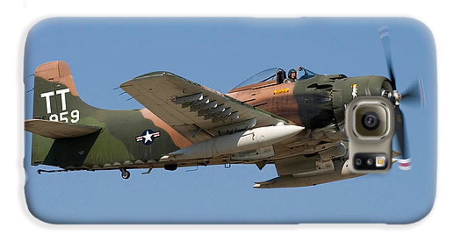 3scape Photos Galaxy S6 Case featuring the photograph Douglas Ad-4 Skyraider by Adam Romanowicz