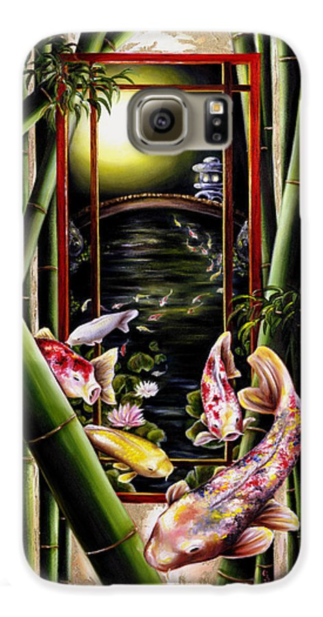 Japanese Galaxy S6 Case featuring the painting Dream by Hiroko Sakai