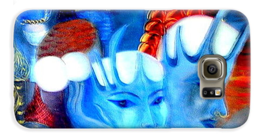 Surrealism Galaxy S6 Case featuring the painting Dreams Of Russia by Pilar Martinez-Byrne
