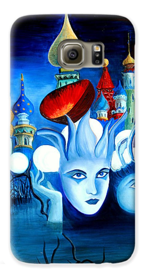 Surrealism Galaxy S6 Case featuring the painting Dreams by Pilar Martinez-Byrne