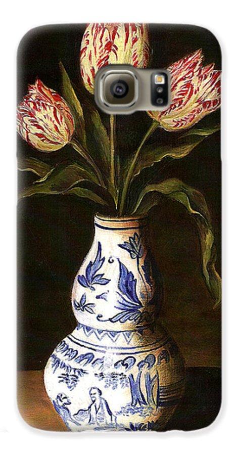 Dutch Still Life Galaxy S6 Case featuring the painting Dutch Still Life by Teresa Carter