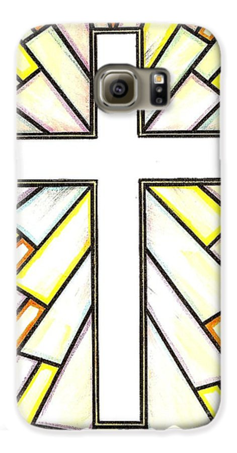 Cross Galaxy S6 Case featuring the painting Easter Cross 3 by Jim Harris