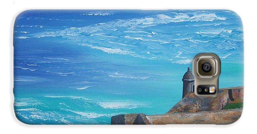 El Morro Ii Galaxy S6 Case featuring the painting El Morro II by Tony Rodriguez