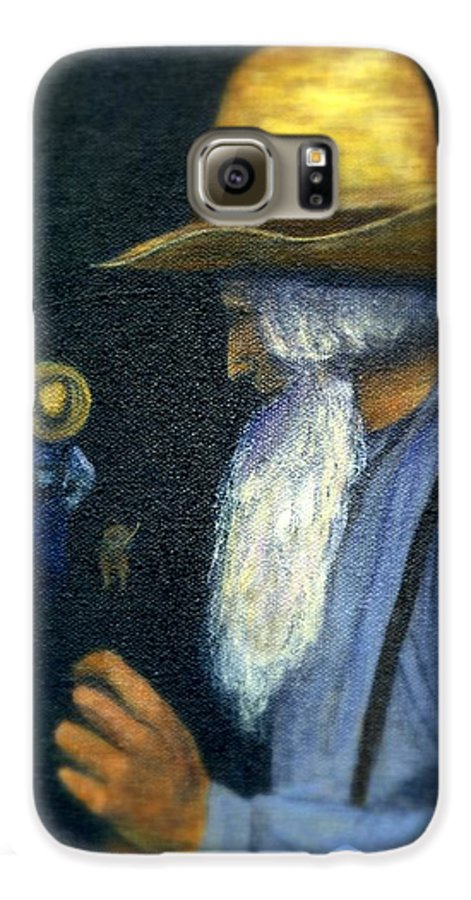 Men Galaxy S6 Case featuring the painting Eli Remembers by Gail Kirtz