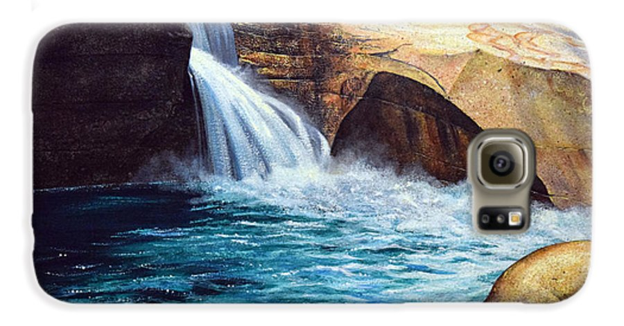 Emerald Pool Galaxy S6 Case featuring the painting Emerald Pool by Frank Wilson