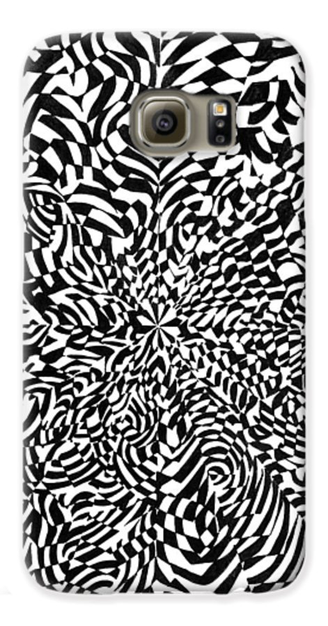 Abstract Galaxy S6 Case featuring the drawing Entangle by Crystal Hubbard