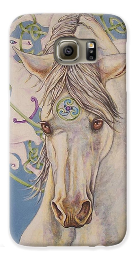 Celtic Galaxy S6 Case featuring the painting Epona The Great Mare by Beth Clark-McDonal