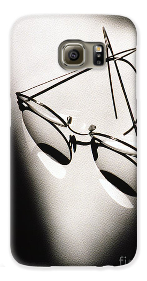 Black & White Galaxy S6 Case featuring the photograph Eye Glasses by Tony Cordoza