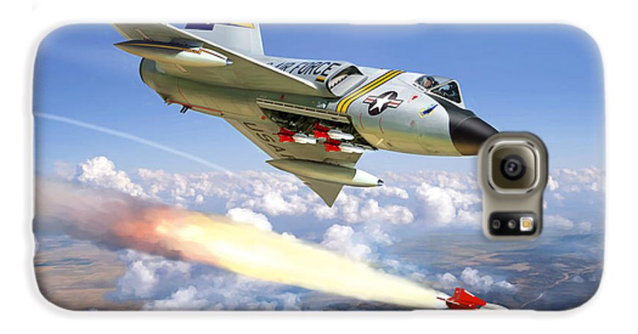 Aviation Galaxy S6 Case featuring the painting F-106 Delta Dart 5th Fis by Mark Karvon