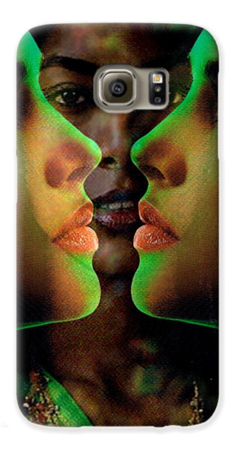 Women Galaxy S6 Case featuring the digital art Face 2 Face by Seth Weaver