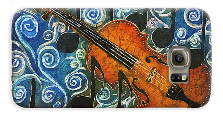 Fiddle Galaxy S6 Case featuring the painting Fiddle 1 by Sue Duda