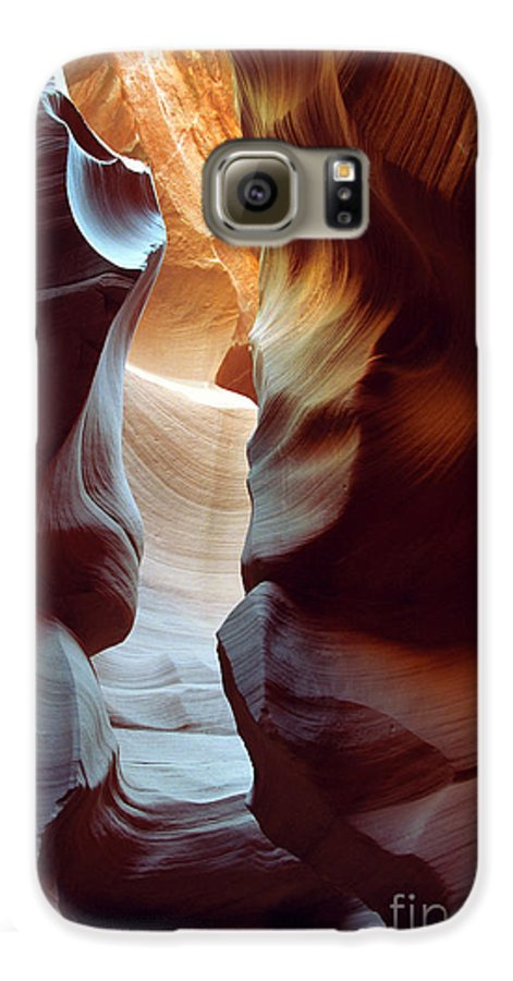 Slot Canyon Galaxy S6 Case featuring the photograph Follow The Light II by Kathy McClure