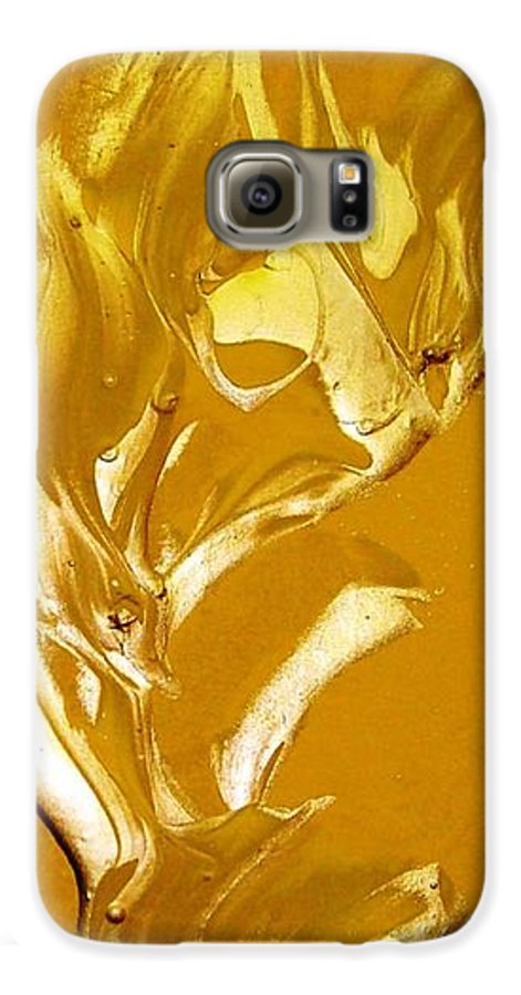 Gold Galaxy S6 Case featuring the painting For Love  For All by Bruce Combs - REACH BEYOND