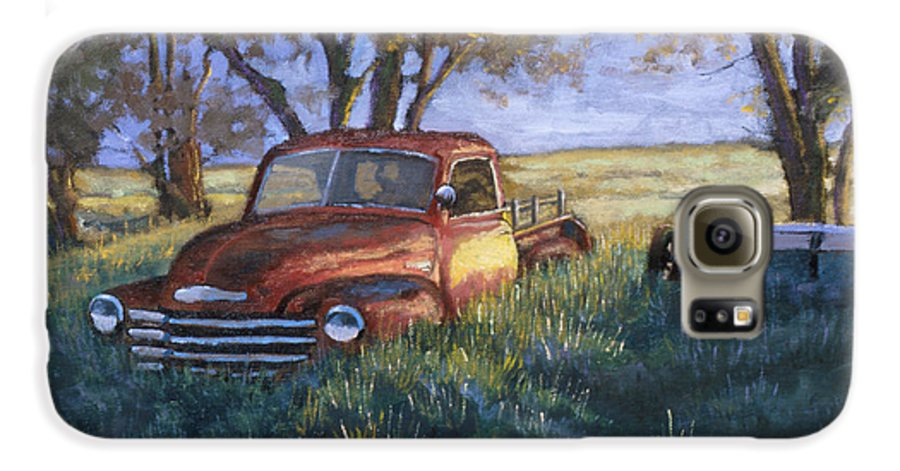 Pickup Truck Galaxy S6 Case featuring the painting Forgotten But Still Good by Jerry McElroy