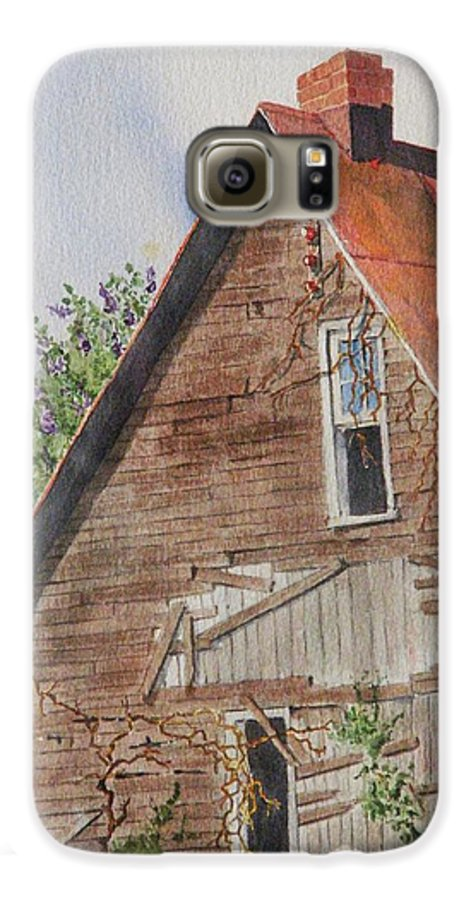 Farm Galaxy S6 Case featuring the painting Forgotten Dreams Of Old by Mary Ellen Mueller Legault