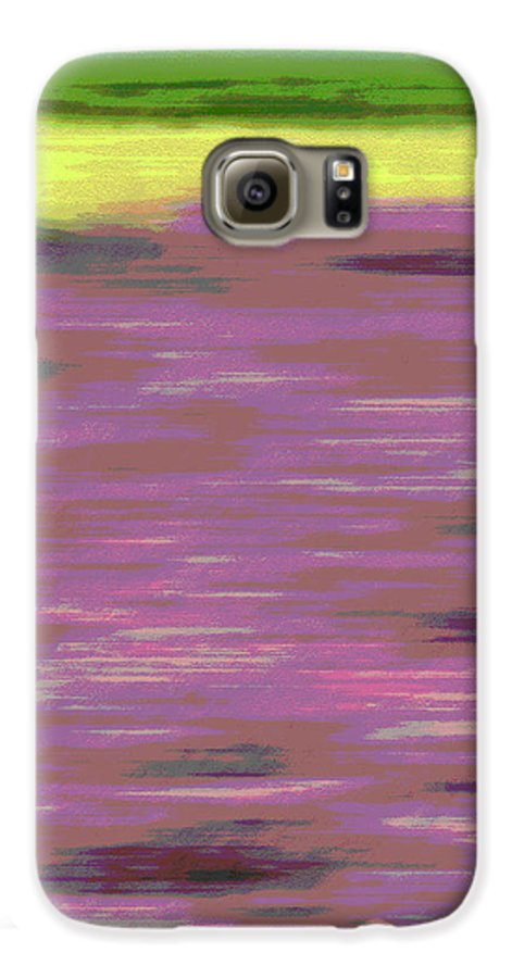 Abstract Galaxy S6 Case featuring the photograph Garden Abstract by Suzanne Gaff