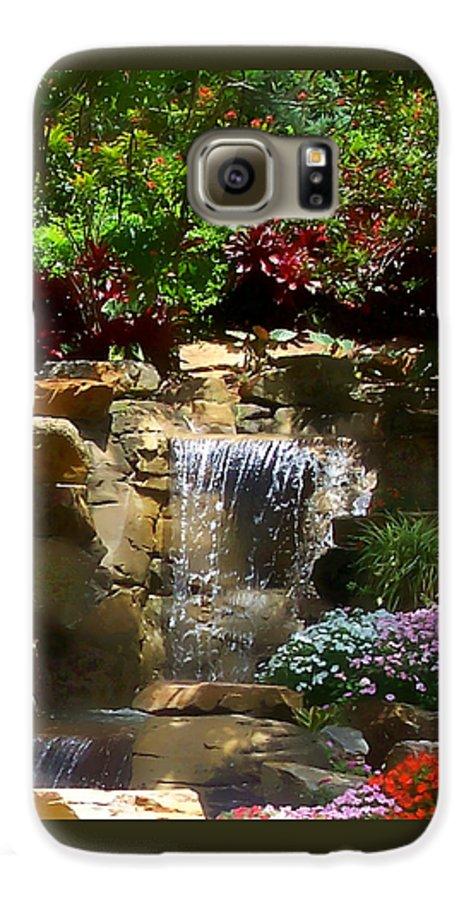 Garden Galaxy S6 Case featuring the photograph Garden Waterfalls by Pharris Art