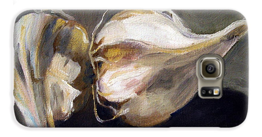 Still-life Galaxy S6 Case featuring the painting Garlic by Sarah Lynch