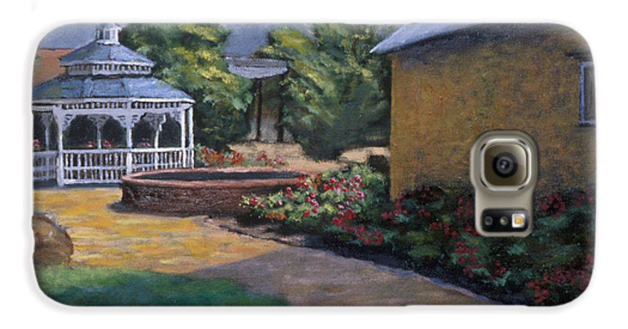 Potter Galaxy S6 Case featuring the painting Gazebo In Potter Nebraska by Jerry McElroy