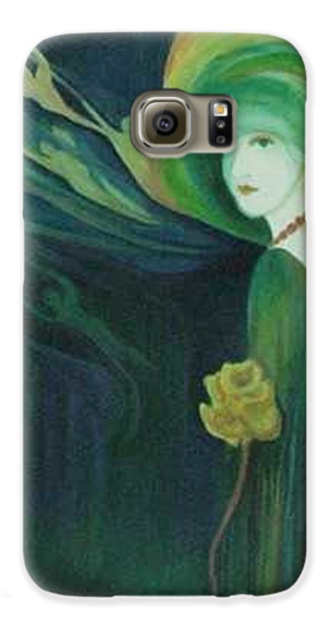 Women Galaxy S6 Case featuring the painting My Haunted Past by Carolyn LeGrand