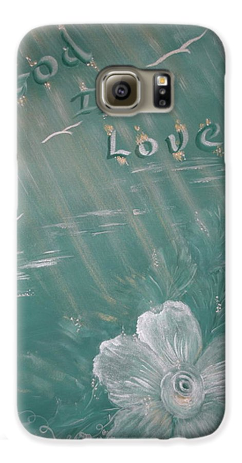 Christian Art Galaxy S6 Case featuring the painting God Is Love by Mary Grabill