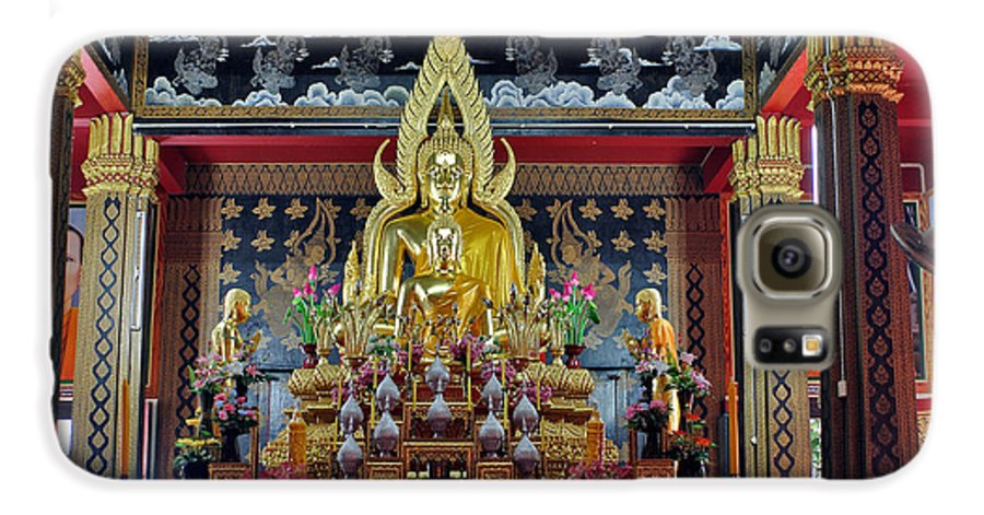 3scape Galaxy S6 Case featuring the photograph Golden Buddha by Adam Romanowicz