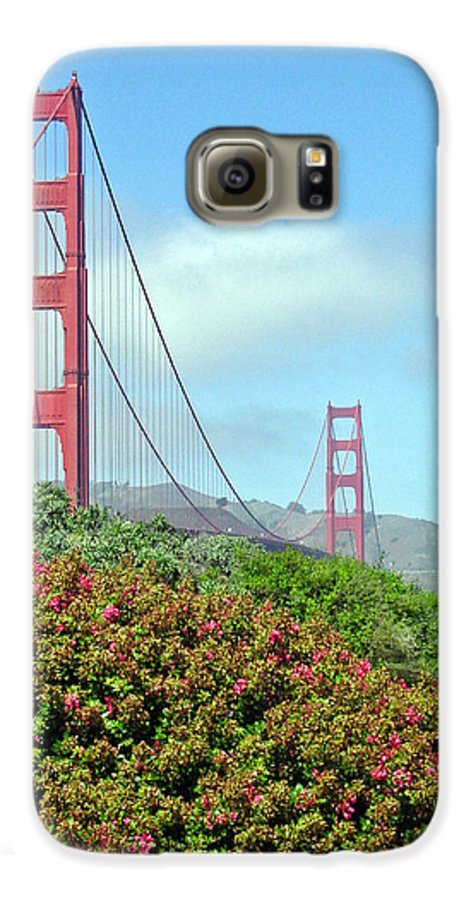 Golden Gate Bridge Galaxy S6 Case featuring the photograph Golden Gate by Suzanne Gaff