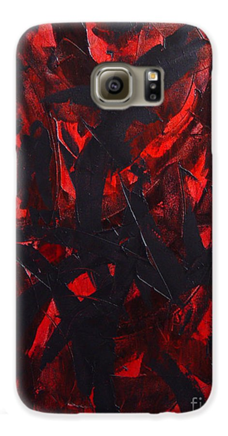 Abstract Galaxy S6 Case featuring the painting Good Bye by Dean Triolo