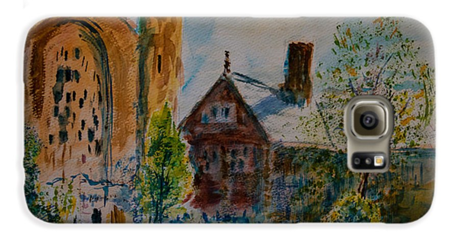 Watercolor Galaxy S6 Case featuring the painting Graham Chapel Morning Effect by Horacio Prada