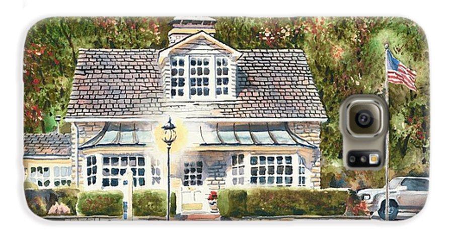 Greystone Inn Ii Galaxy S6 Case featuring the painting Greystone Inn II by Kip DeVore