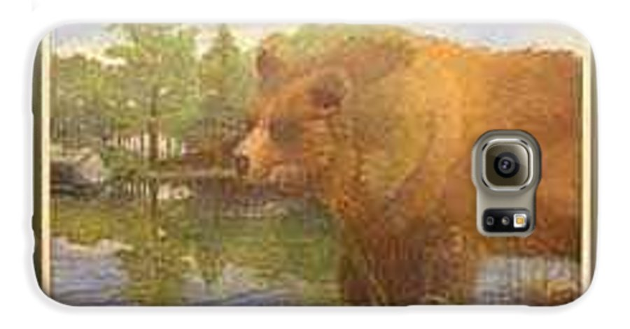 Rick Huotari Galaxy S6 Case featuring the painting Grizzly by Rick Huotari