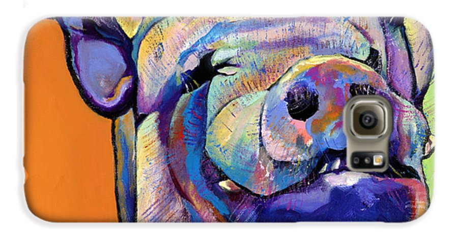 Pat Saunders-white Canvas Prints Galaxy S6 Case featuring the painting Grunt  by Pat Saunders-White