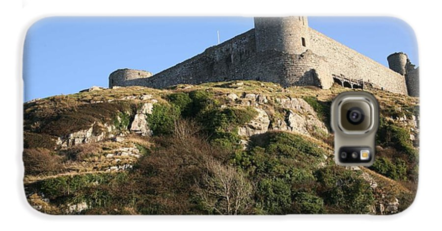 Castles Galaxy S6 Case featuring the photograph Harlech Castle by Christopher Rowlands